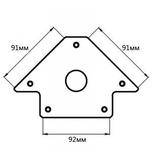 Угольник магнитный Smart&solid Mag602