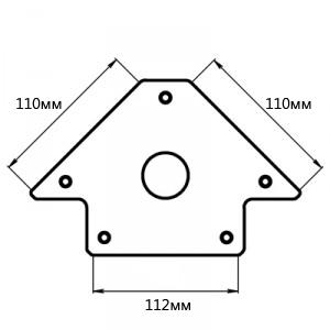 Угольник магнитный Smart&solid Mag603
