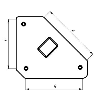 Угольник магнитный Smart&solid Mag606
