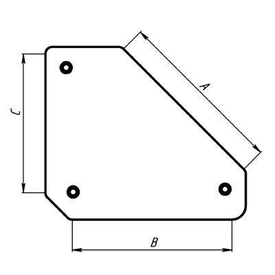 Угольник магнитный Smart&solid Mag610