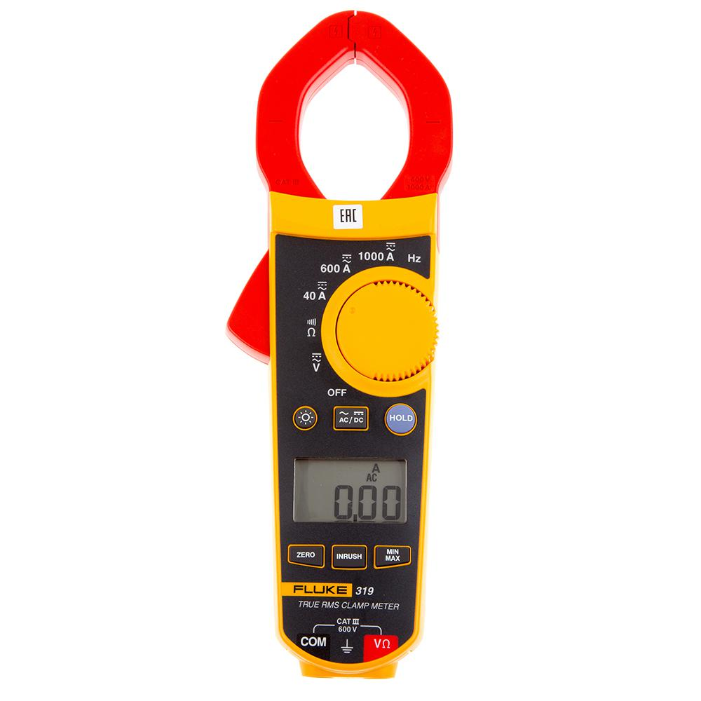 Фото 4/4 Fluke 319 (Госреестр), Клещи токовые 1000АС, измерение среднекв. значений перем/пост тока