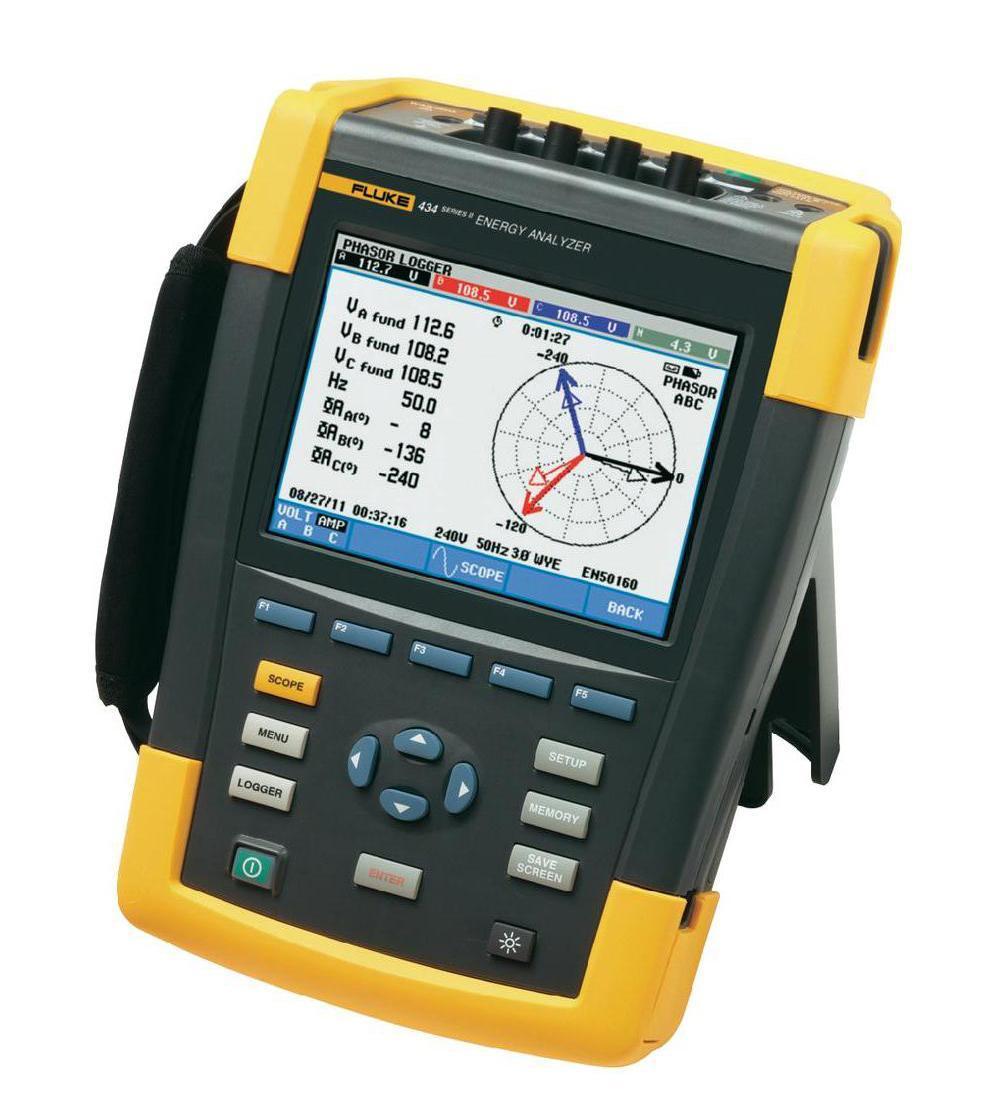 Анализатор качества электроэнергии Fluke 434 ii  кабель регистратора электроэнергии fluke 1730 cable