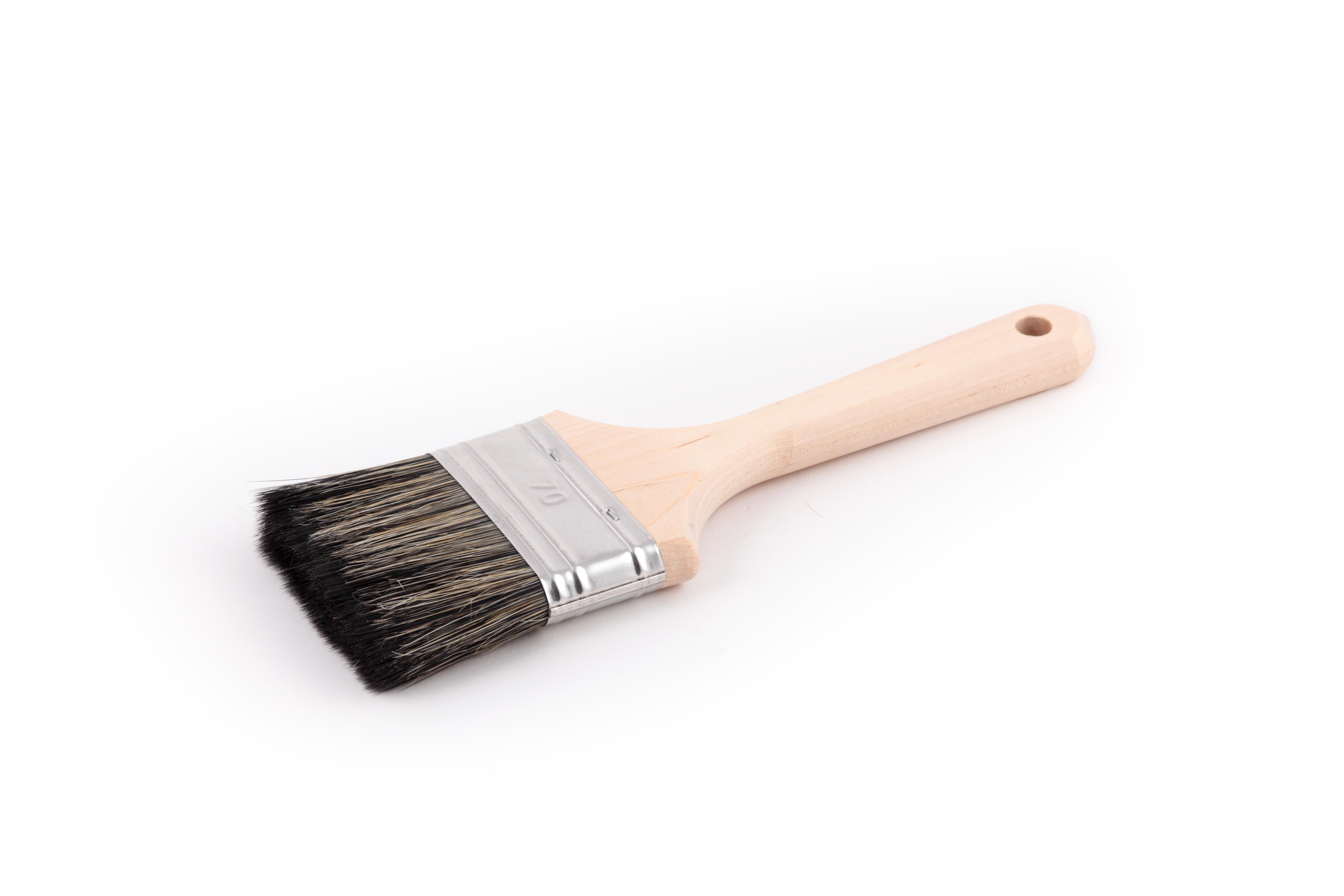 Кисть флейцевая ЛАЗУРНЫЙ БЕРЕГ КФ 50х14 С7 кисть плоская лазурный берег 25 мм искусственная щетина orel деревянная ручка