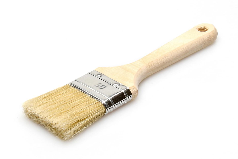 Кисть флейцевая ЛАЗУРНЫЙ БЕРЕГ КФ 50х14 дер. ручка кисть плоская 50 мм искусственная щетина orel деревянная ручка лазурный берег профи