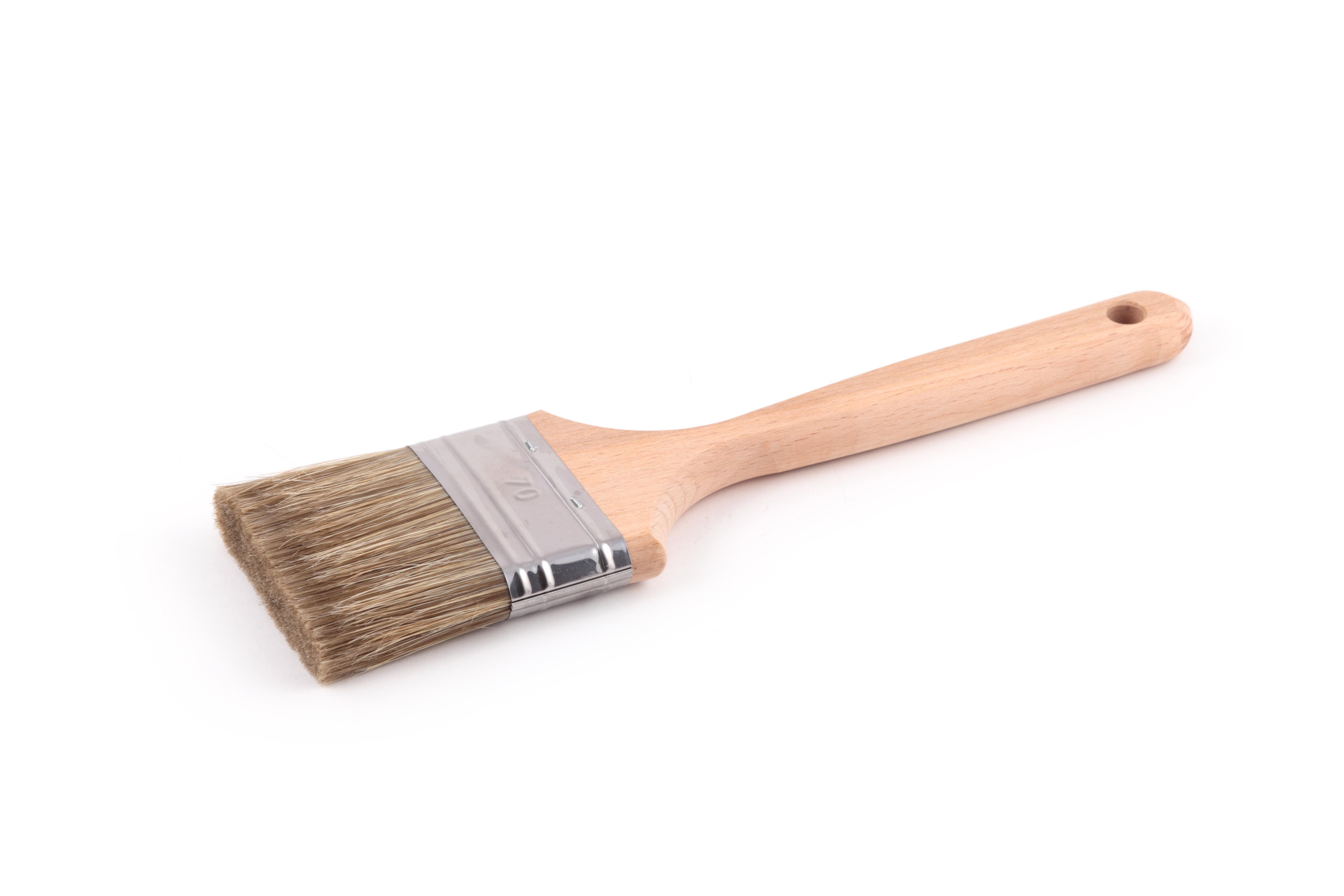 Кисть флейцевая ЛАЗУРНЫЙ БЕРЕГ КФ 70х14 дер. ручка кисть плоская лазурный берег 25 мм искусственная щетина orel деревянная ручка