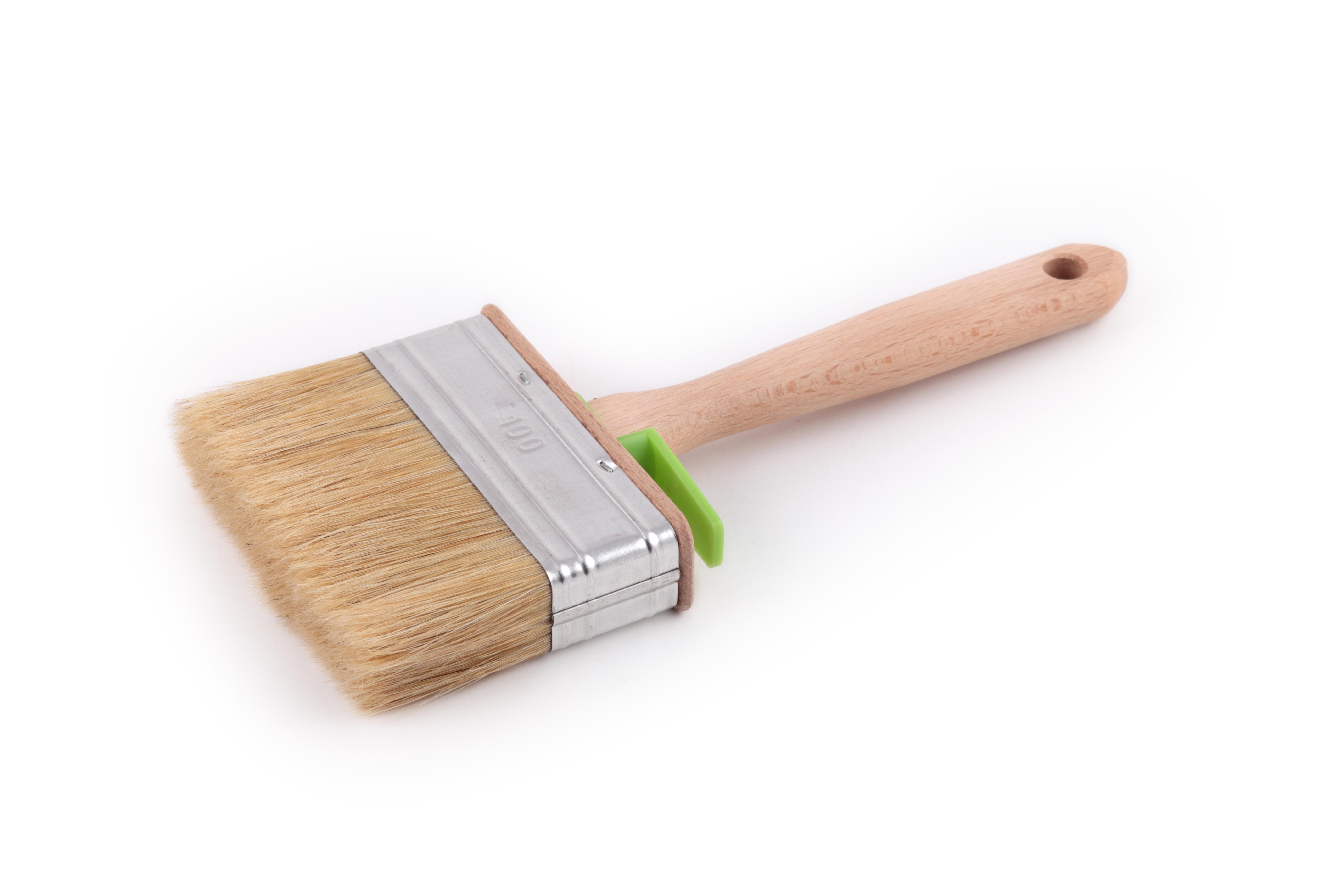 Кисть флейцевая ЛАЗУРНЫЙ БЕРЕГ КП-120х25 дер. ручка кисть плоская лазурный берег 25 мм искусственная щетина orel деревянная ручка