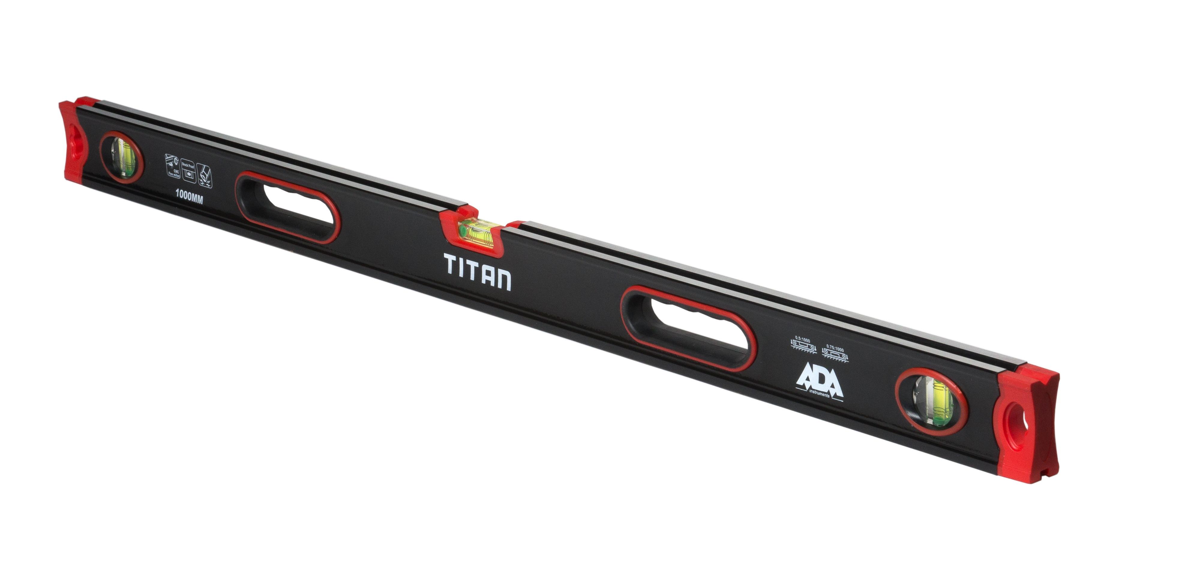Уровень Ada Titan 1000 диск обрезиненный titan 51 мм 5 кг черный