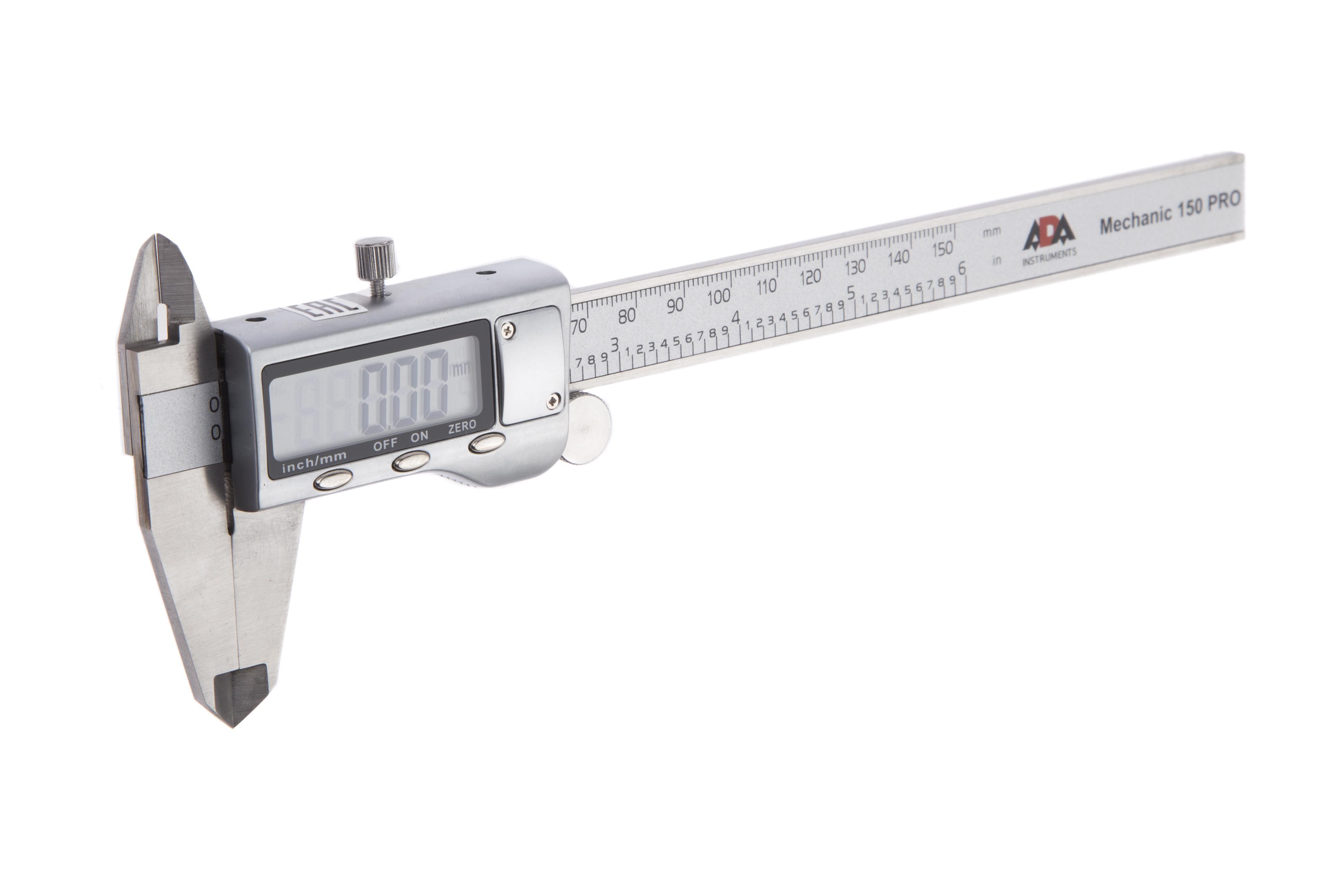 Штангенциркуль Ada Mechanic 150 pro уровень угломер электронный ada pro digit rumb а00481