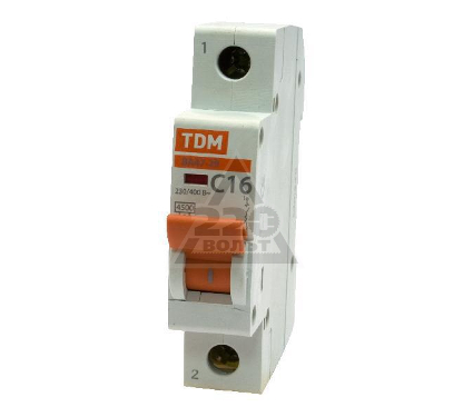 Автомат TDM ВА47-29 1р 16А