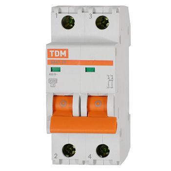 Автомат Tdm ВА47-29 2Р 16А автоматический выключатель tdm ва47 63 2р 32а sq0218 0013