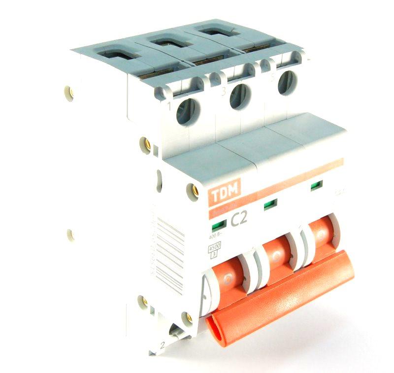 Автомат Tdm ВА47-29 3р 16А автоматический выключатель tdm ва47 29 4р 13а 4 5ка в sq0206 0057