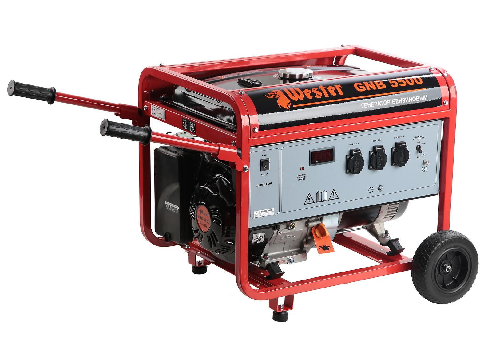 Бензиновый генератор Wester Gnb5500 расширительный бак wester wrv8