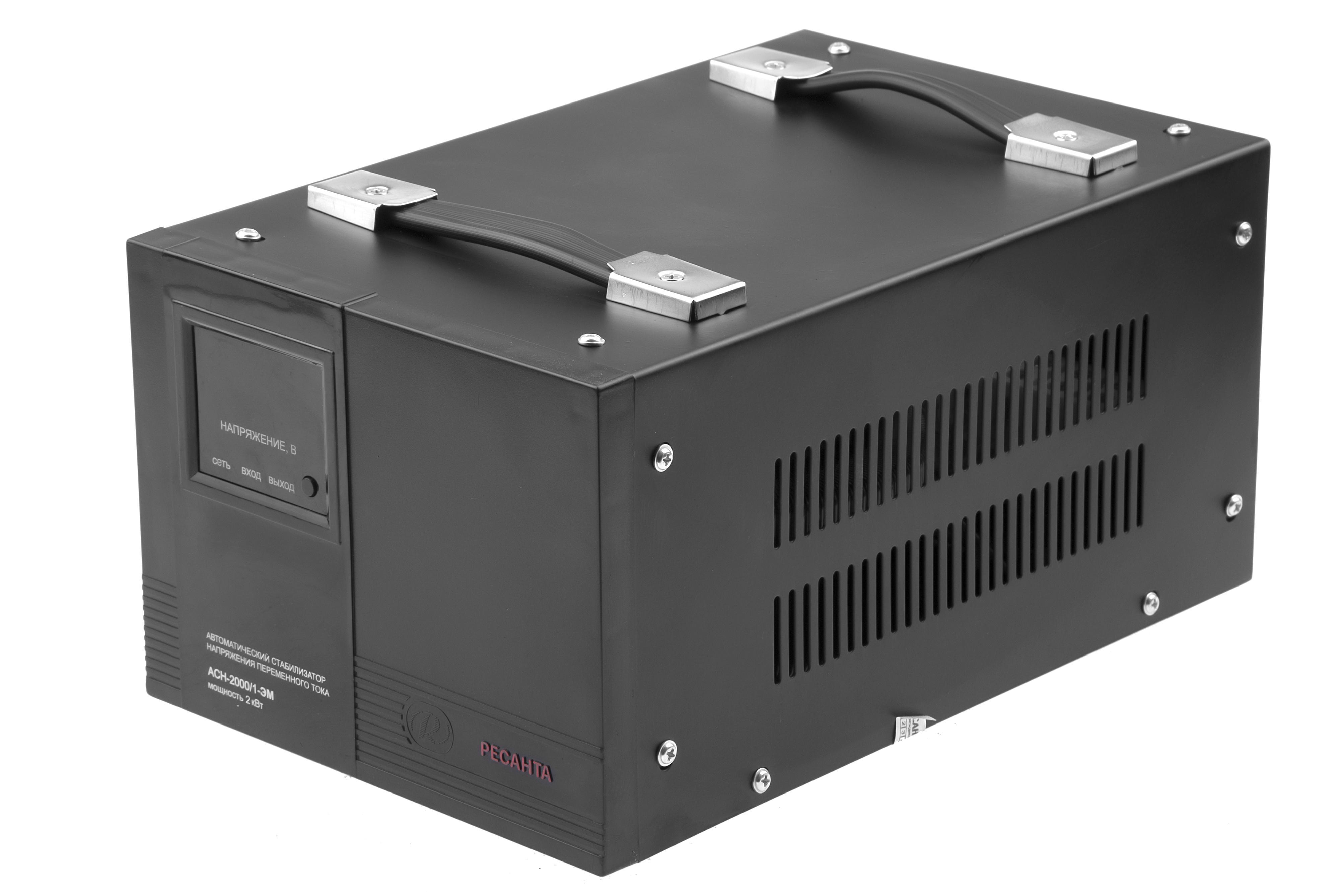 Стабилизатор напряжения РЕСАНТА АСН-2000/1-ЭМ стабилизатор напряжения ресанта асн 2 000 1 эм