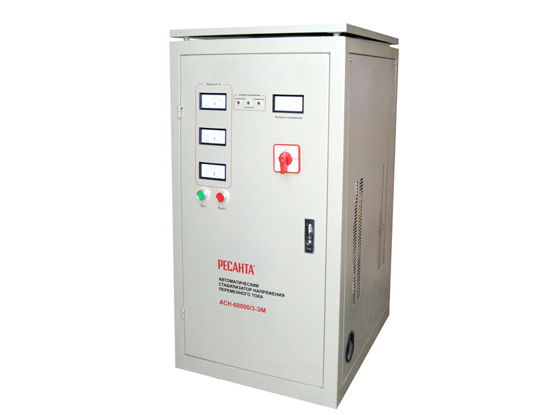 Стабилизатор напряжения РЕСАНТА АСН-80000/3-ЭМ стабилизатор напряжения ресанта ach 3000 3 эм