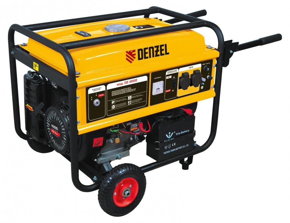 Бензиновый генератор Denzel Ge 4500Е генератор бензиновый eurolux g2700a