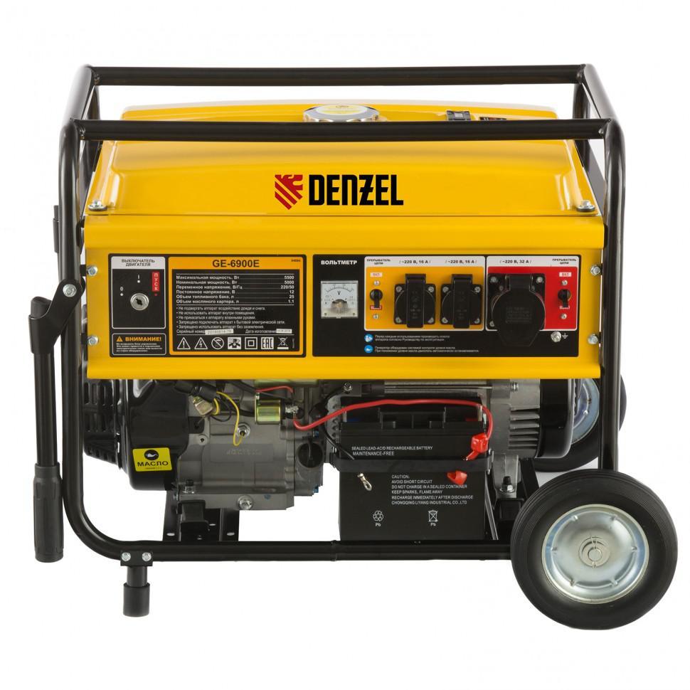 Бензиновый генератор Denzel Ge 6900e бензиновый генератор firman rd8910e1