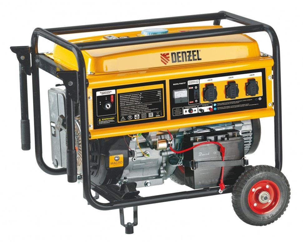 Бензиновый генератор Denzel Ge 8900e генератор бензиновый eurolux g2700a