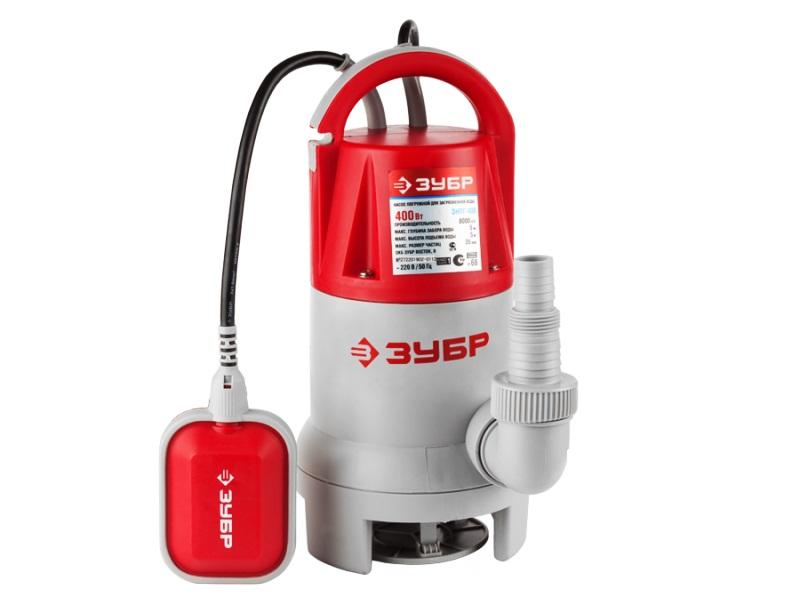 Дренажный насос ЗУБР ЗНПГ-400 насос погружной для грязной воды зубр знпг 400