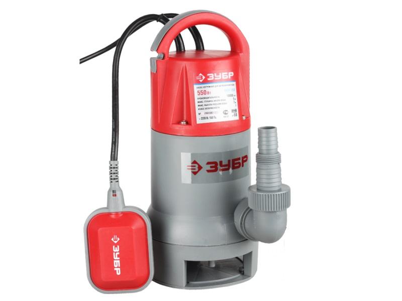 Дренажный насос ЗУБР ЗНПГ-550 насос погружной для грязной воды зубр знпг 550