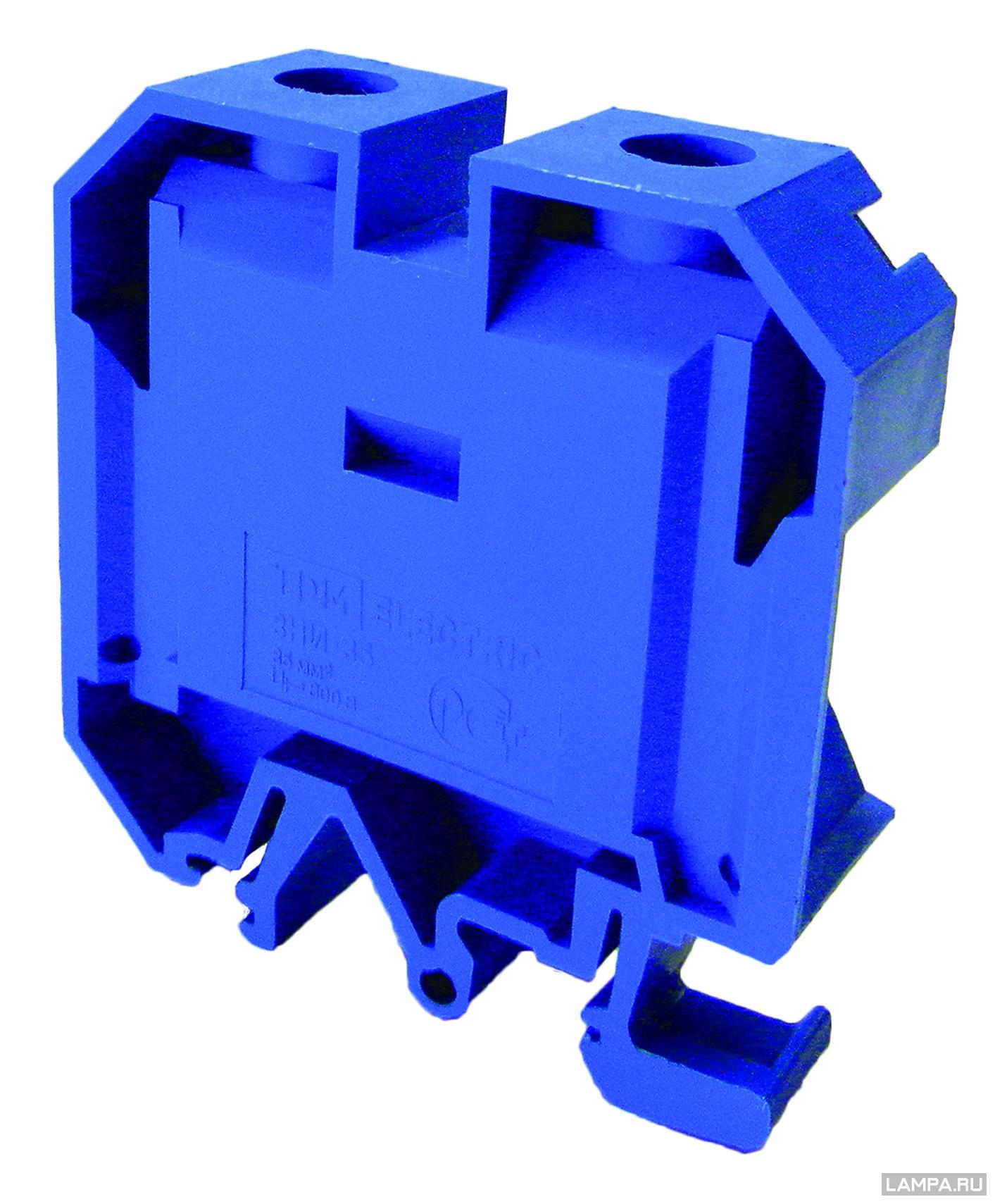 Зажим наборный ТДМАксессуары для электромонтажа<br>Тип аксессуара: зажим,<br>Степень защиты от пыли и влаги: IP 20,<br>Цвет: синий<br>