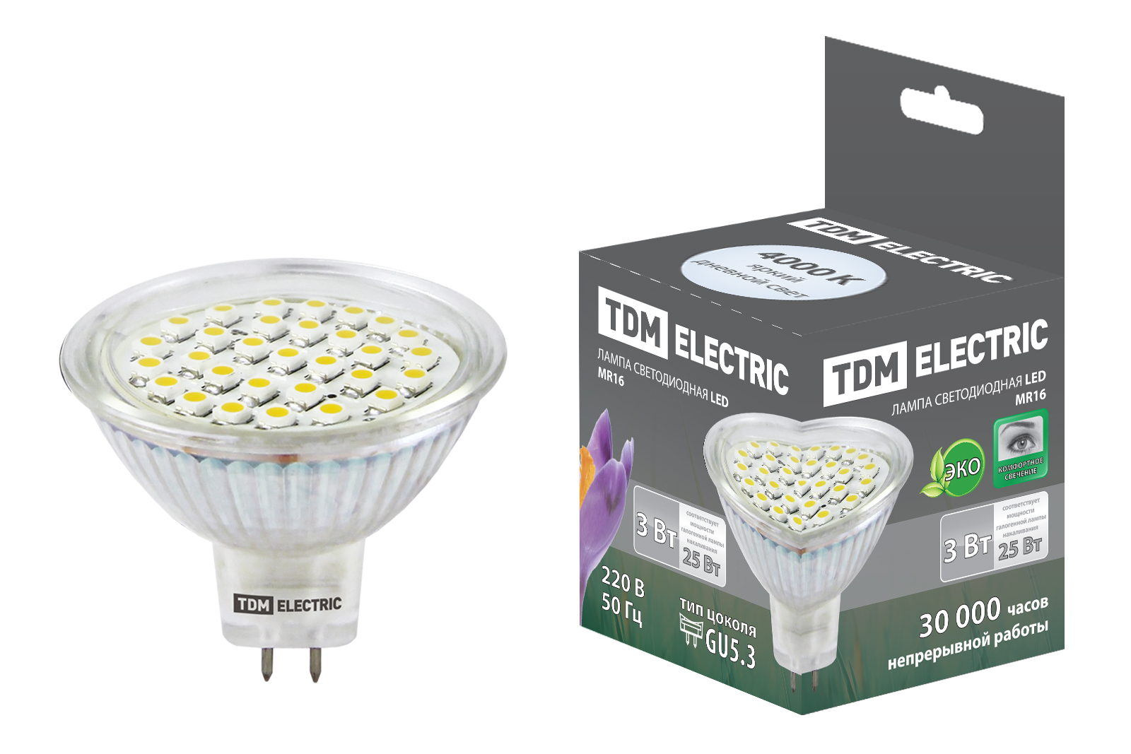 Лампа светодиодная Tdm Sq0340-0021