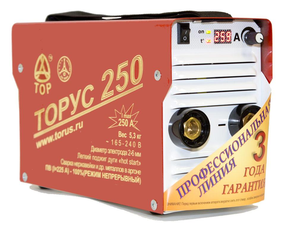 Сварочный аппарат ТОРУС 250 ЭКСТРА сварочный аппарат foxweld мастер 250 проф 5950