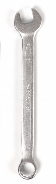 Ключ гаечный комбинированный КОБАЛЬТ 642-869 (11 мм) комбинированный гаечный трещоточный ключ 19мм cr v кобальт 642 562