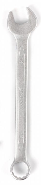 Ключ гаечный комбинированный КОБАЛЬТ 642-913 (16 мм) ключ комбинированный kraft 14 мм кт 700508