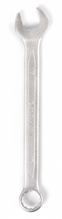 Ключ гаечный комбинированный КОБАЛЬТ 642-920 (17 мм) ключ комбинированный kraft 14 мм кт 700508