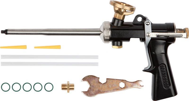 Пистолет для монтажной пены Kraftool 6853 пистолет для монтажной пены blast extra lite 590024