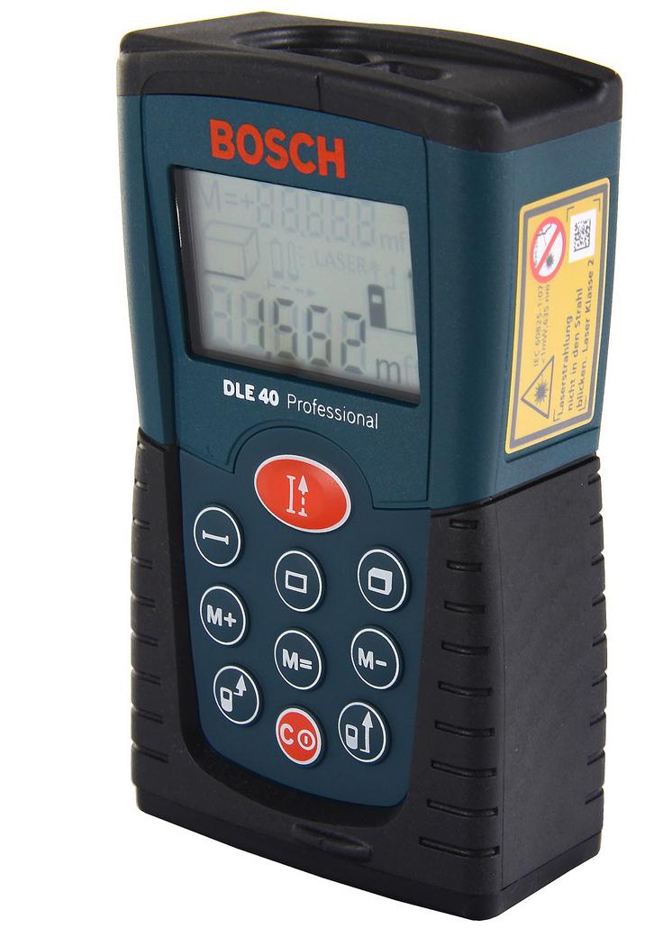 Лазерный дальномер Bosch Dle 40 (0.601.016.300) дальномер лазерный bosch plr 40 c 0603672320
