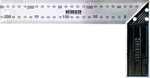Угольник Biber 40630 измерительный угольник truper e 16x24 14384