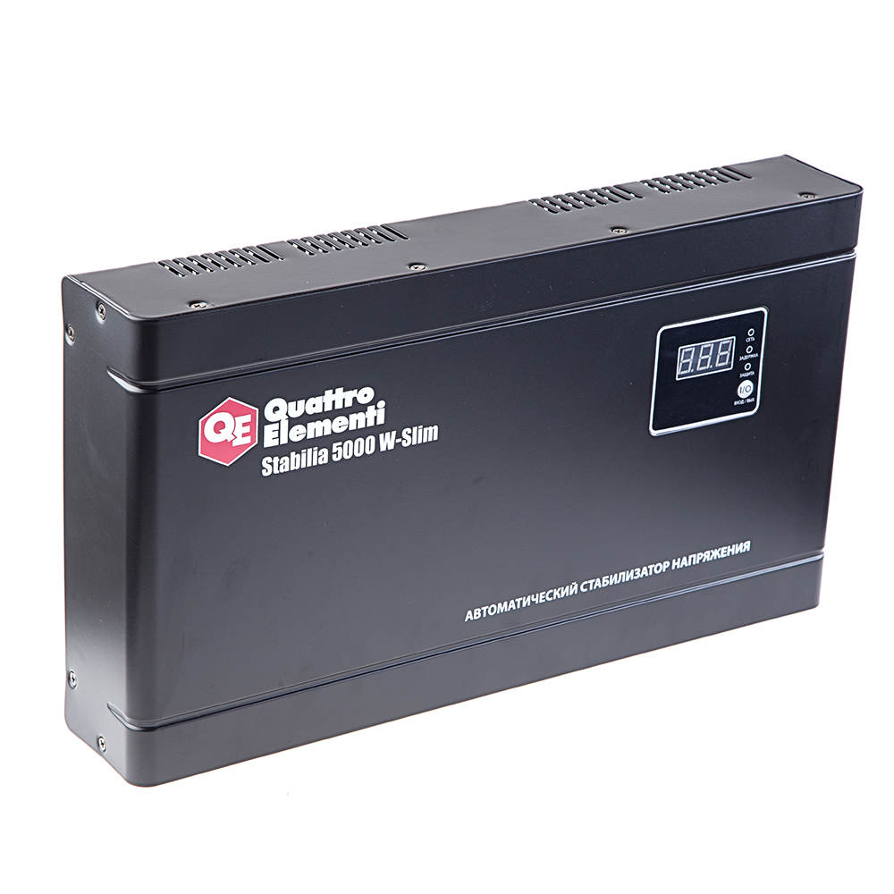 Стабилизатор напряжения Quattro elementi Stabilia 5000 w-slim стабилизатор напряжения quattro elementi stabilia 5000