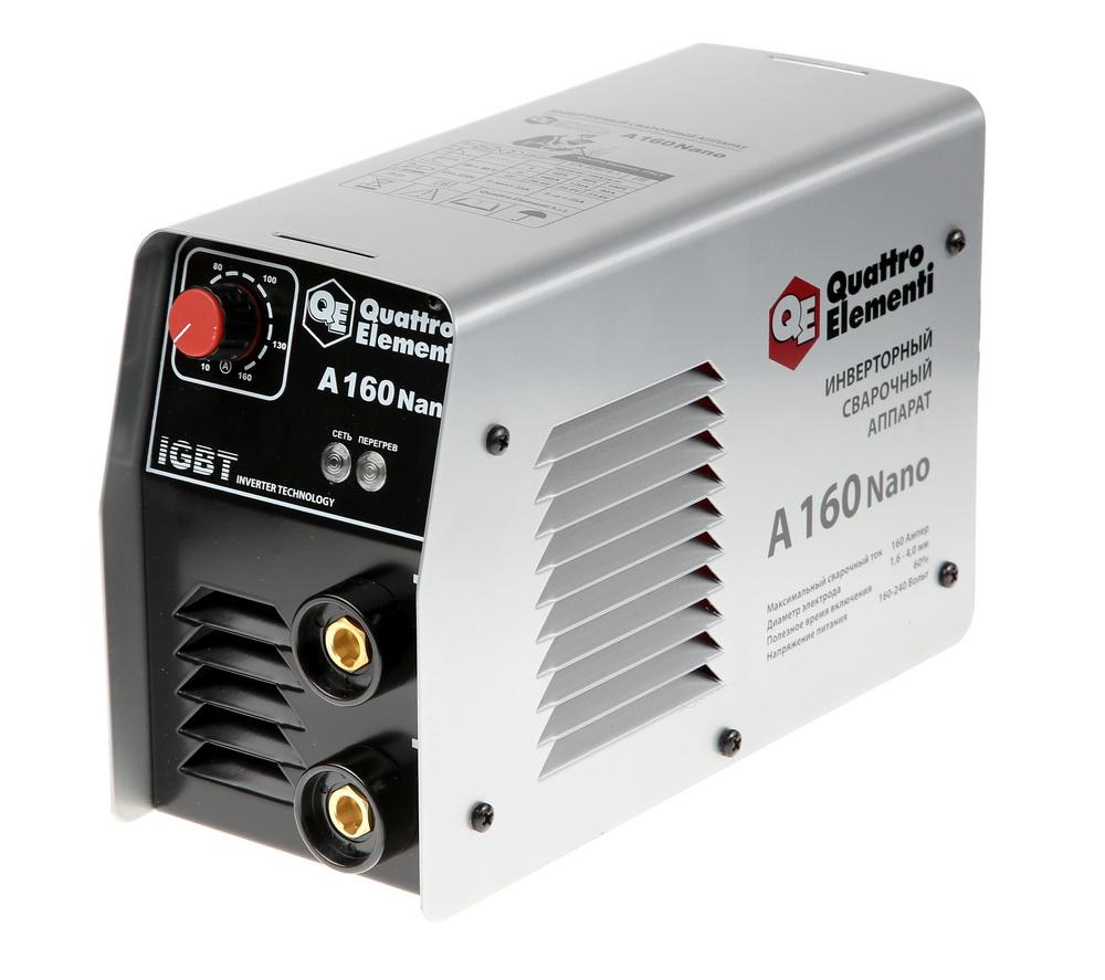 Сварочный аппарат Quattro elementi А-160 nano держатель электрода quatro elementi 200a