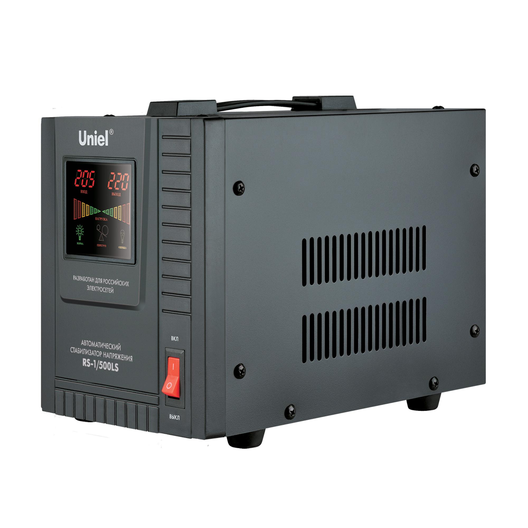 Купить со скидкой Стабилизатор напряжения Uniel Rs-1/500ls