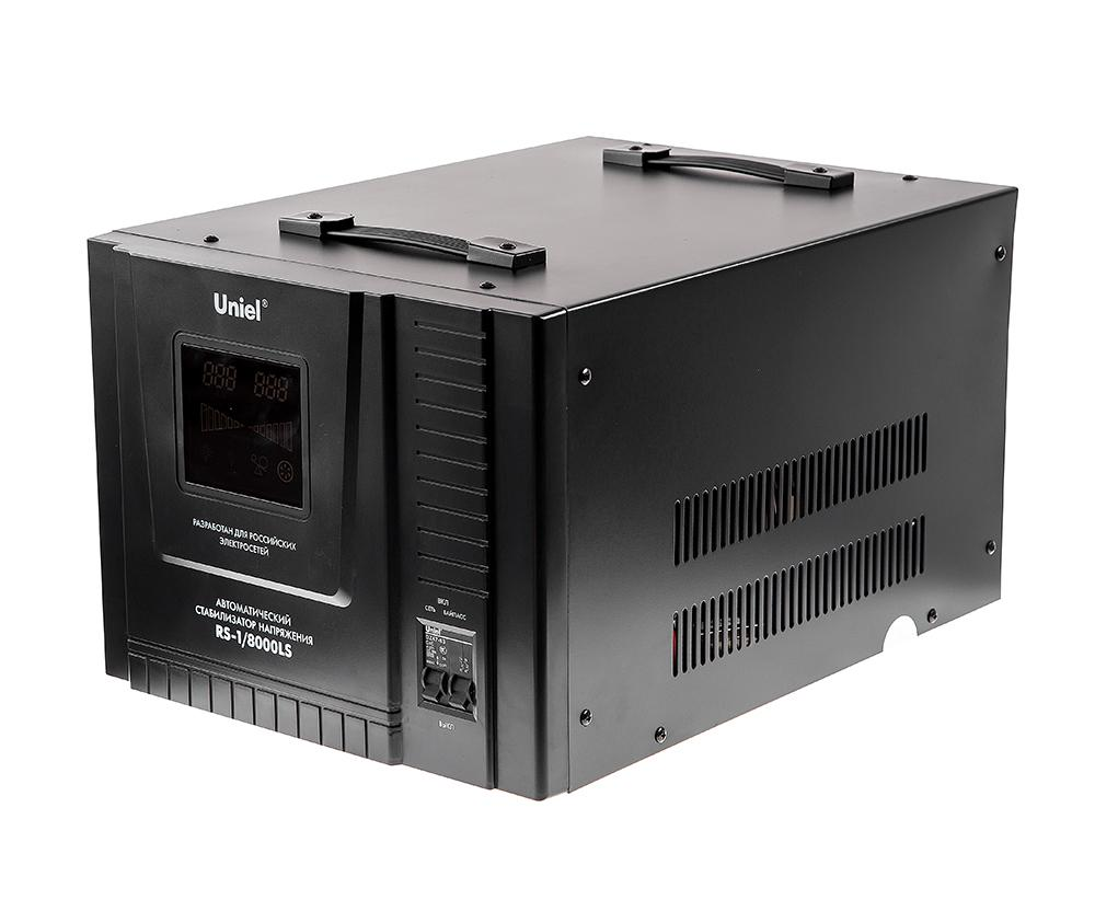 Стабилизатор напряжения Uniel Rs-1/8000ls стабилизатор напряжения uniel 03107 500ва rs 1 500