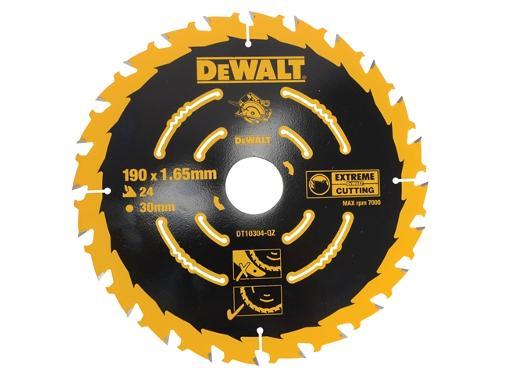 Диск пильный твердосплавный DEWALT Ф190х30мм 24зуб. (DT10304QZ)