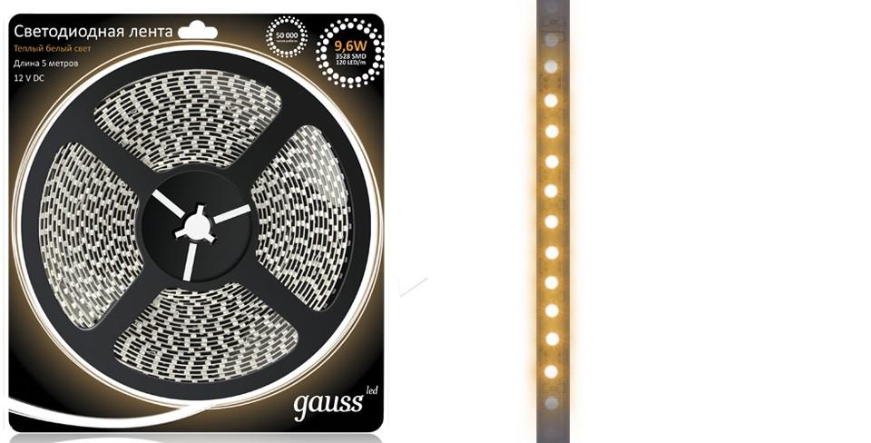 Световая лента Gauss Eb312000110 внешний аккумулятор samsung eb pn930csrgru 10200mah серый