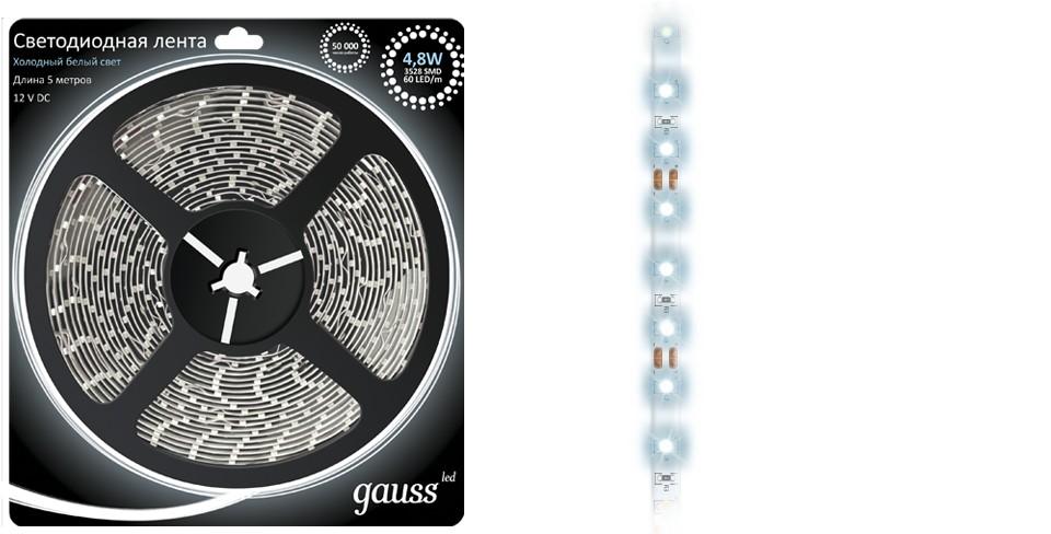 Световая лента Gauss Eb312000305 лента светодиодная gauss 312000107