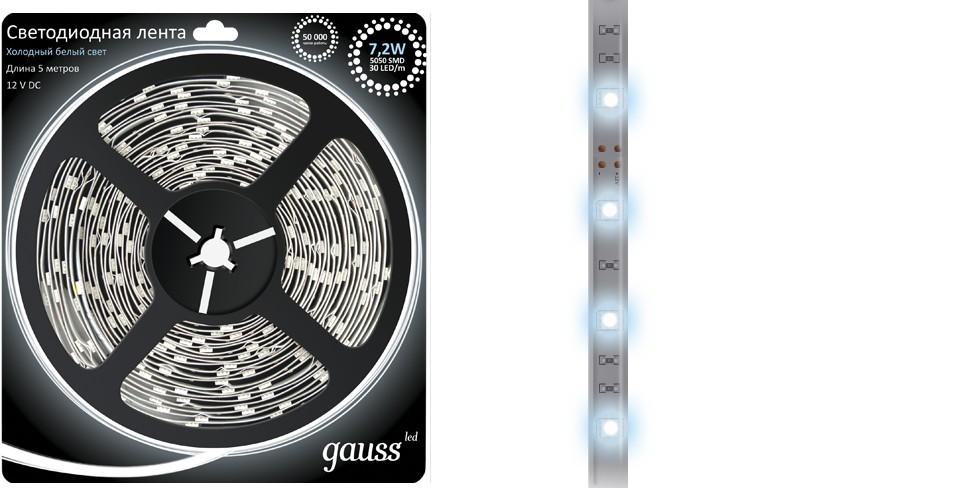 Световая лента Gauss Eb312000307 лента светодиодная gauss 312000107