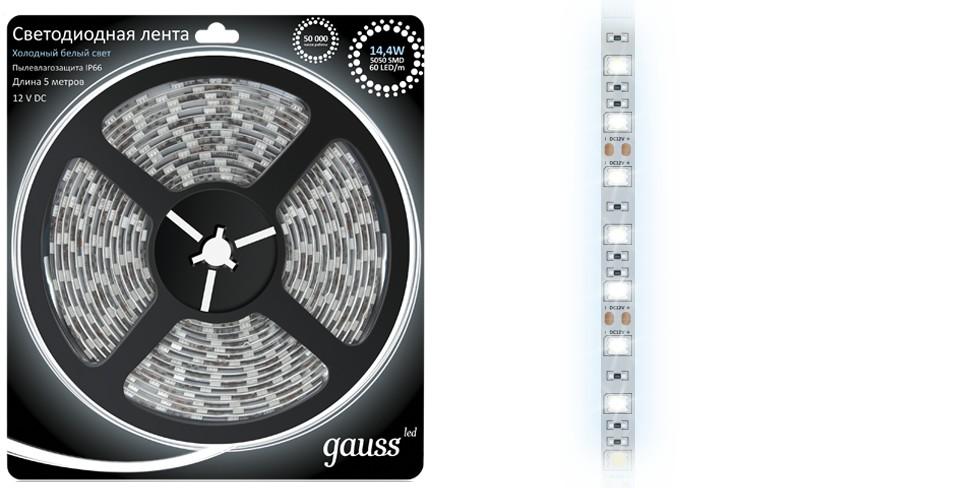 Световая лента Gauss Eb311000314 лента светодиодная gauss 312000107