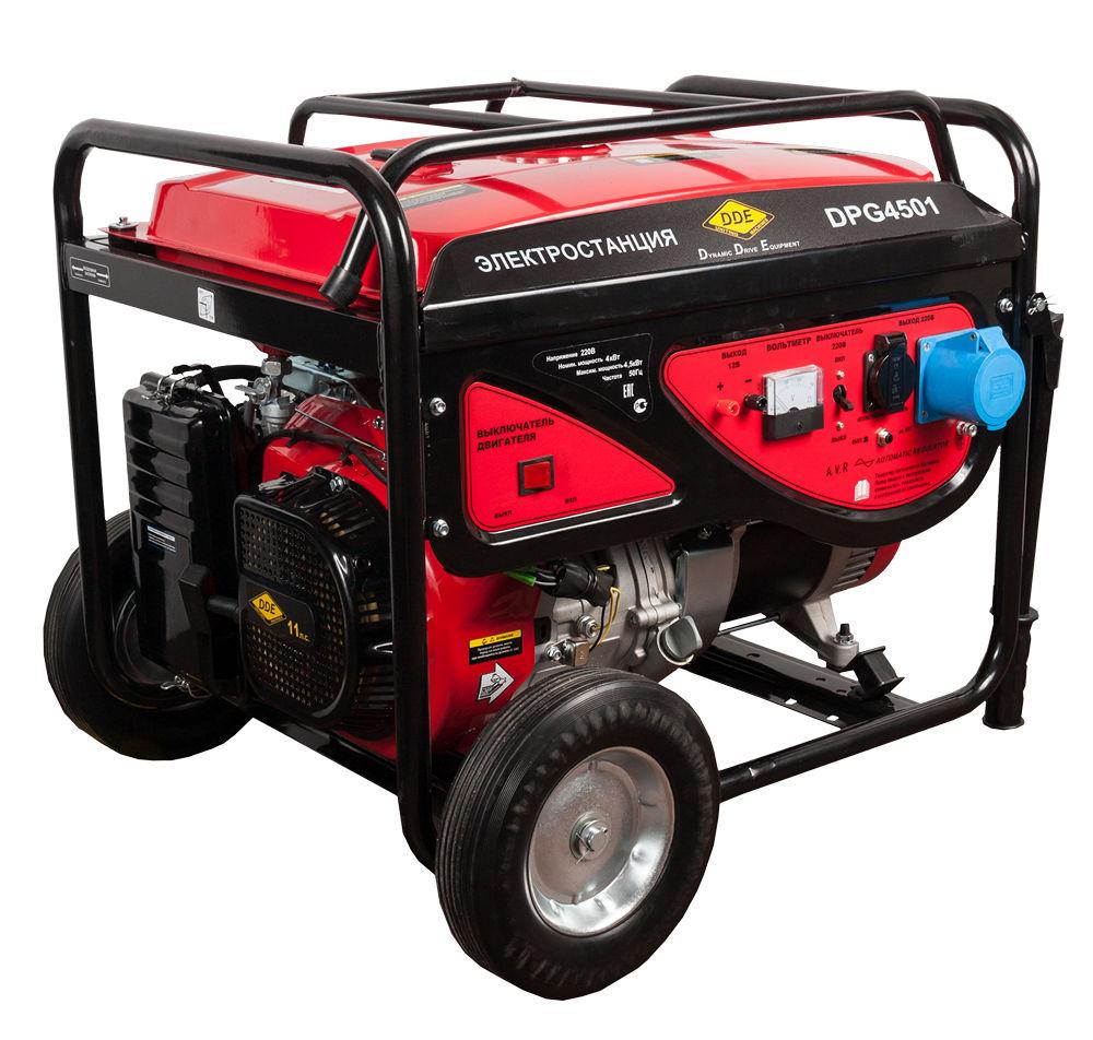 Бензиновый генератор Dde Dpg4501 цена и фото
