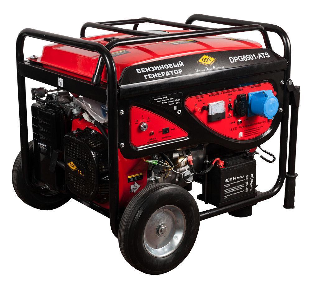 все цены на Бензиновый генератор Dde Dpg6501e-ats онлайн