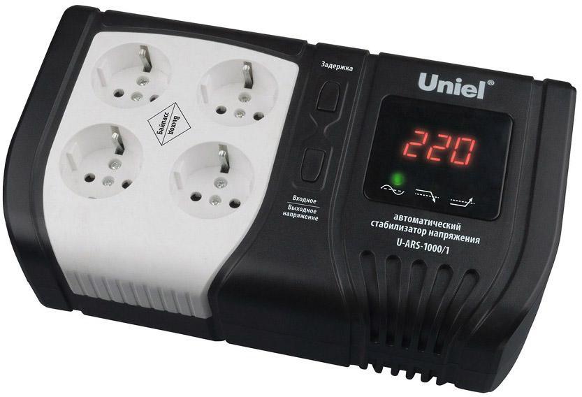 Стабилизатор напряжения Uniel U-ars-1000/1 стабилизатор напряжения uniel expert 09622 1000ва u ars 1000 1