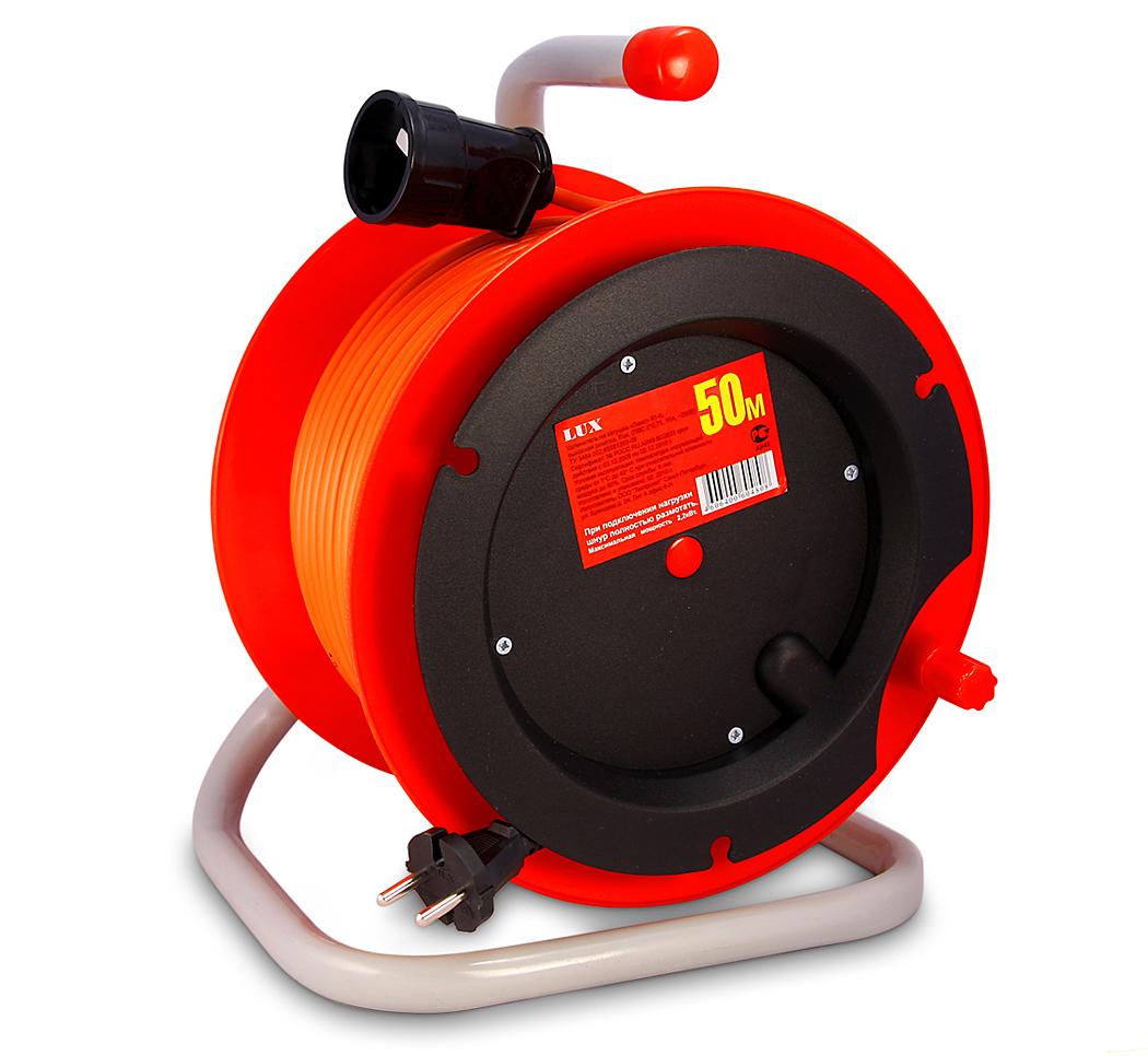 Удлинитель Lux К1-О-50 силовой удлинитель на катушке к1 0 25 lux 4606400417552