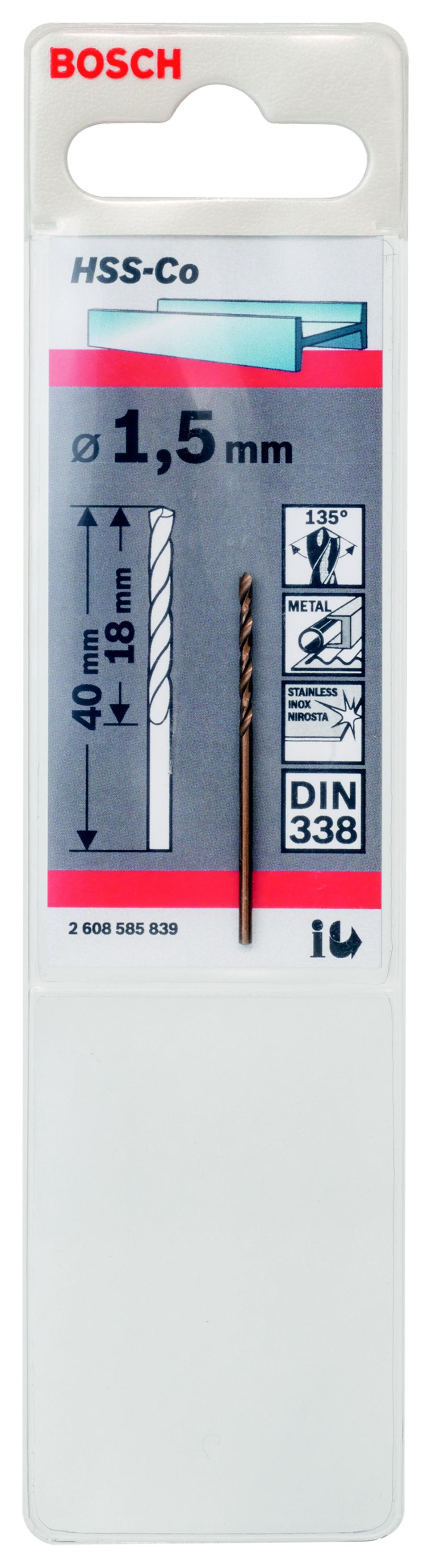 Сверло Bosch 1 hss-co (2.608.585.839) аксессуары veld co набор переводных татуировок черепа