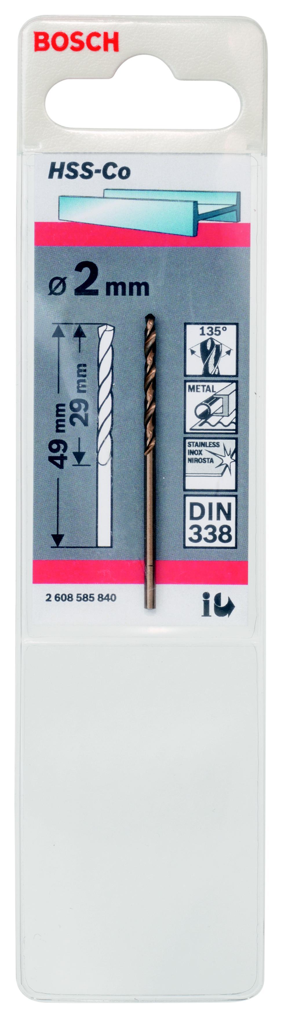 Сверло Bosch 1 hss-co (2.608.585.840) аксессуары veld co набор переводных татуировок черепа