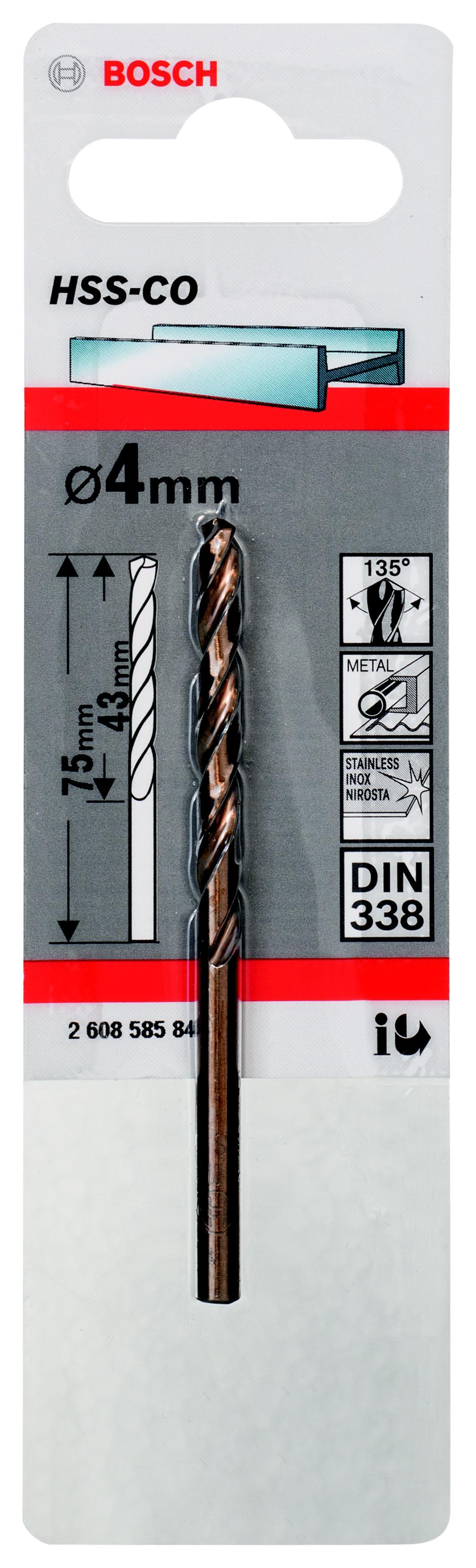 Сверло Bosch 1 hss-co (2.608.585.846) аксессуары veld co набор переводных татуировок черепа