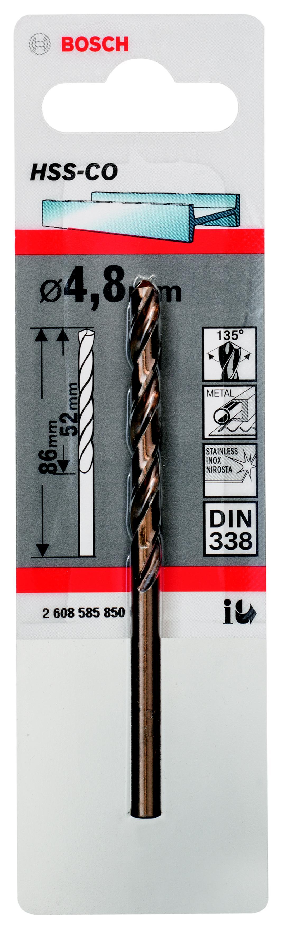 Сверло Bosch 1 hss-co (2.608.585.850) аксессуары veld co набор переводных татуировок черепа