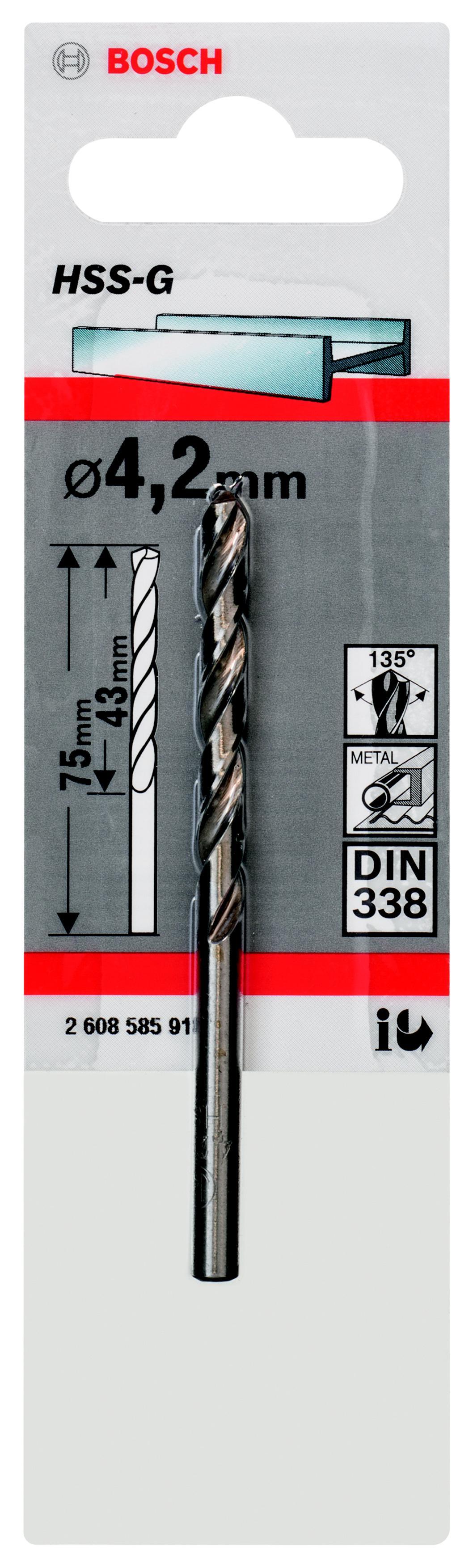 Сверло Bosch 1 hss-g (2.608.585.918) пила bosch gks 65 g professional
